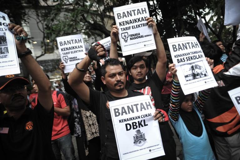 flash mob protest price rises