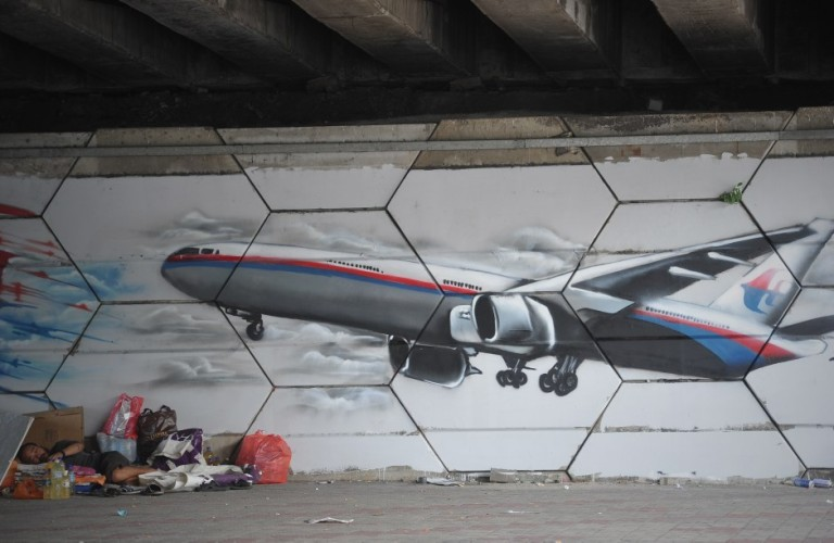 Graffiti MH370