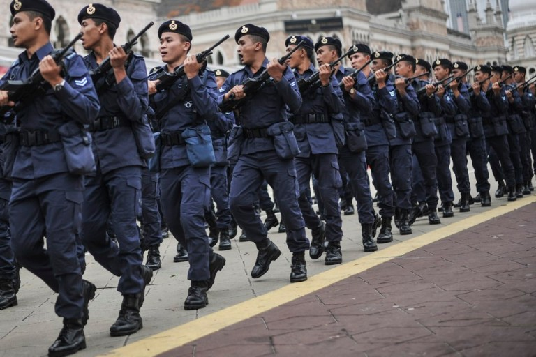 rehearsal for Independence Day celebrations In Kuala Lumpur