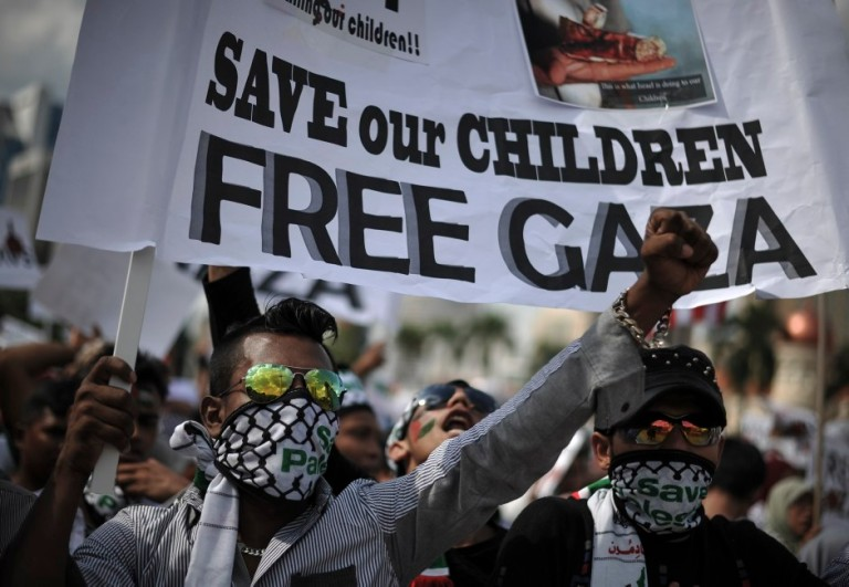 Save the children of Gaza peace rally